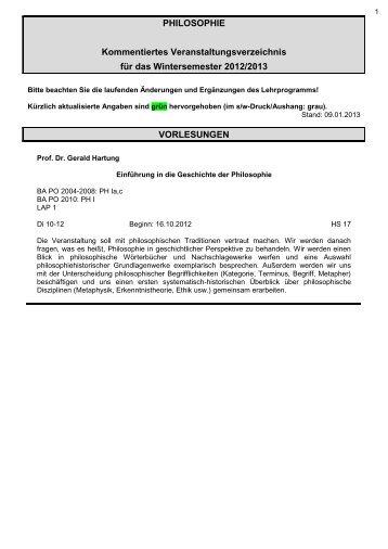 Kommentare - Philosophie - Bergische Universität Wuppertal