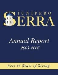Annual Report 2004-2005 to Printer.indd - Junipero Serra High School