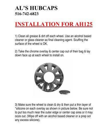 al's hubcaps 516-742-6823 installation for ah125