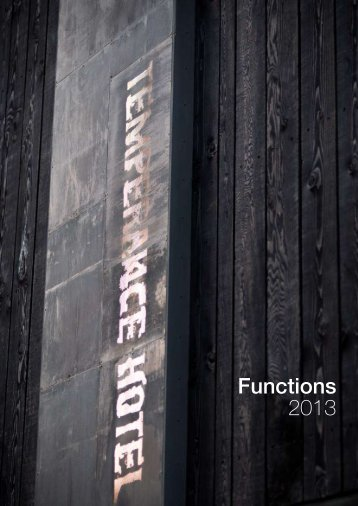 Functions 2013 - Temperance Hotel