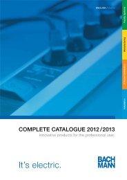 Bachmann Catalog 2009 - four traders GmbH