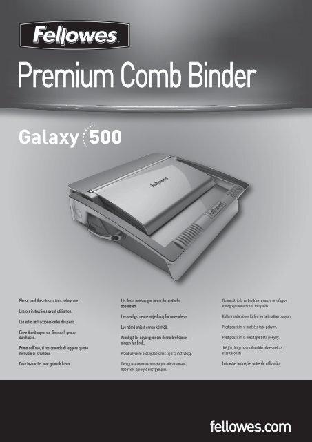 Premium Comb Binder - Fellowes