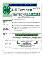 4-H Forecast - Langlade County - University of Wisconsin-Extension