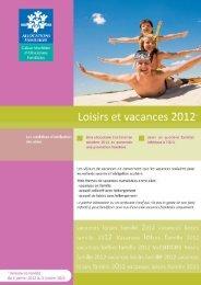 Loisirs et vacances 2012-1 - Caf.fr