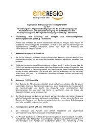 Ergänzende Bedingungen StromGVV - Eneregio