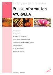 ayurveda - Yoga Vidya