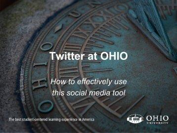 Twitter at OHIO - Ohio University Alumni Association