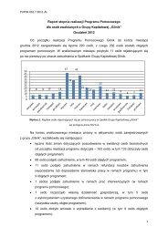 Informacja o realizacji Programu Pomocowego dla osób ...