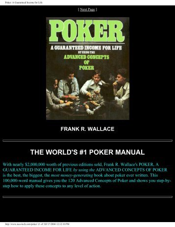 THE WORLD'S #1 POKER MANUAL - Card Games