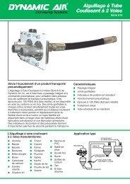 Aiguillage à Tube Coulissant à 2 Voies Série 615 - Dynamic Air Inc.