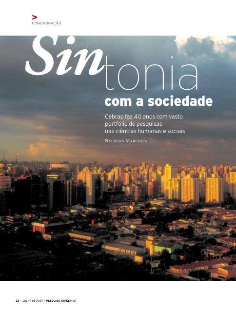 com a sociedade - Revista Pesquisa FAPESP