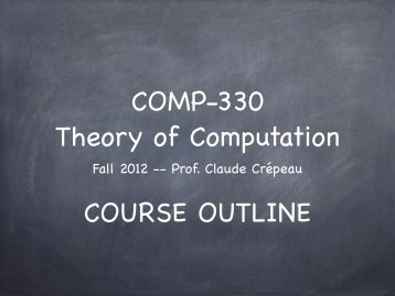 Course Outline - McGill University