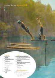 Limmat Verlag Herbst 2010 - Swiss Independent Publishers