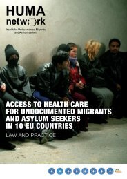access to health care for undocumented migrants and asylum ...