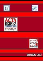 n - Acta Technica Corviniensis