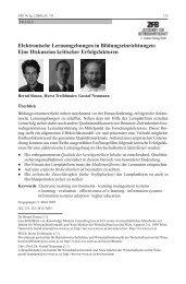 Elektronische Lernumgebungen in Bildungseinrichtungen: Eine ...