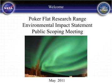 Scoping period: April 13 – June 1, 2011 - NASA Goddard Space ...