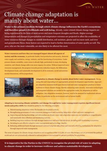 UN WATER climate change flyer - IWA