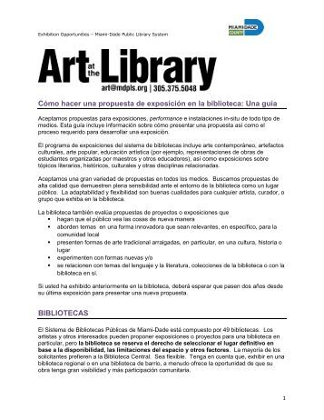 CALL FOR PROPOSALS - Miami-Dade Public Library System