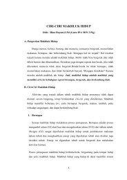 ciri-ciri makhluk hidup oleh : rina hayani,s.pd ... - Kemenag Sumsel