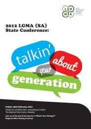 2012 LGMA (SA) State Conference:
