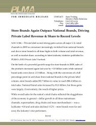 Store Brands Again Outpace National Brands, Driving ... - PLMA
