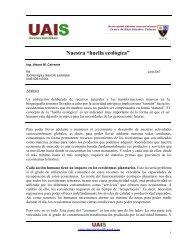 """Nuestra """"huella ecológica"""" - Sustentabilidad.uai.edu.ar"""