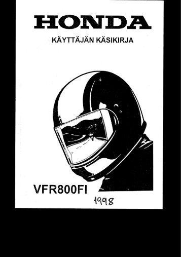VFR800FI 1998 käsikirja (.pdf, 2.29 MB) - Honda