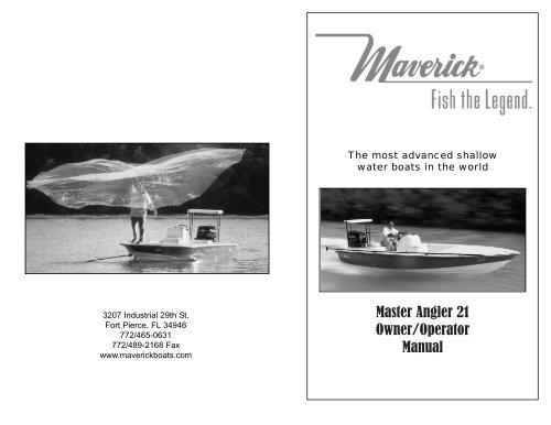 Maverick Master Angler 21 Owners Manual - Maverick Boat Company