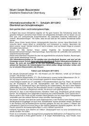 Elternbrief zum Schuljahresanfang - Main-Limes-Realschule ...