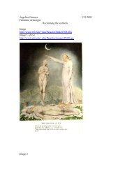 Angelica Jimenez 3/21/2005 Feminine Archetype Reclaiming the ...
