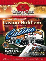 Jetzt Neu im Casino-CLub - CasinoClub Magazin
