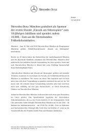 Klassik am Odeonsplatz - Mercedes-Benz Niederlassung München