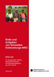 Rolle und Aufgaben von Schweizer Entwicklungs-NRO - Unité