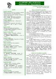 Mercredi 17 septembre 2003 - Académie des sciences morales et ...
