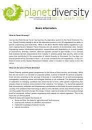Planet Diversity Basic Information engl