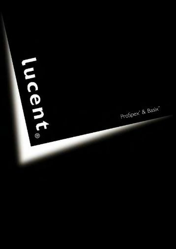 Lucent Prospex and Basix Catalogue - Light Project