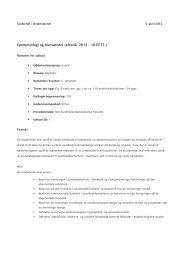 Epidemiologi og biostatistik (efterår 2012 - 10 ECTS )