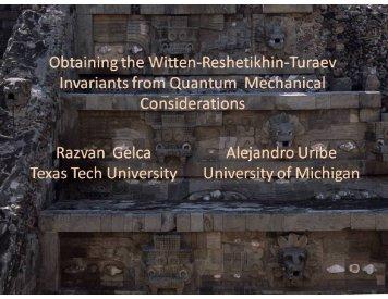 Obtaining the Witten-Reshetikhin-Turaev invariants from quantum ...