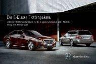 Die E-Klasse Flottenpakete. - Mercedes-Benz Niederlassung ...