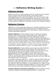 Reflective Writing Guidelines - Ideal.forestry.ubc.ca