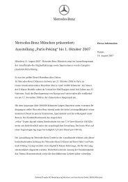 Press Information - Mercedes-Benz Niederlassung München