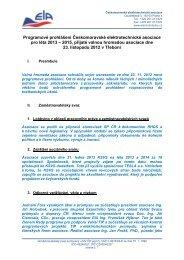 Zpráva prezidenta asociace o plnění programového prohlášení