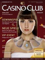 nEuE spiElE - CasinoClub Magazin