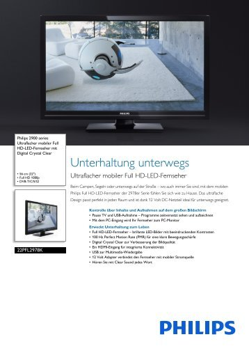 Leaflet 22PFL2978K_12 Released Germany (German ... - Philips