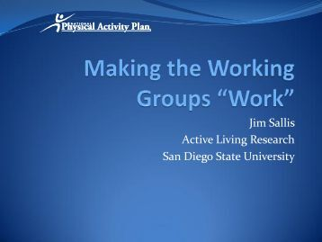 Jim Sallis Active Living Research San Diego State University