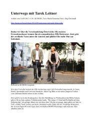Unterwegs mit Tarek Leitner - Gafeias.org