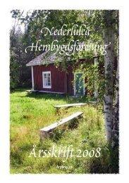 Årsskrift 2008 - nederluleå hembygdsförening