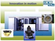 Innovation in motion - Elma BV