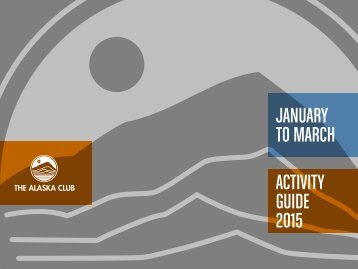 JANUARY TO MARCH ACTIVITY GUIDE 2015